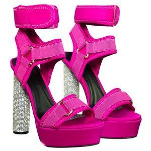Nordstrom Wild Diva Bling harness cylinder heels